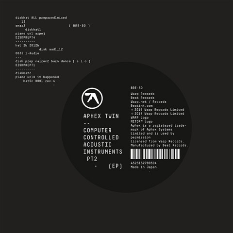 Computer Controlled Acoustic Instruments pt2 EP / Aphex Twin